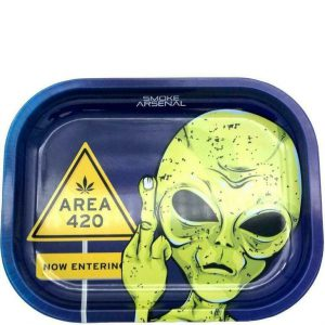 Area 420 Metal Rolling Tray – Small: 7″ x 5″ –