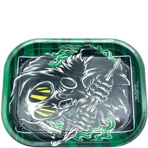 Grim Reefer Metal Rolling Tray – Small: 7″ x 5″ –
