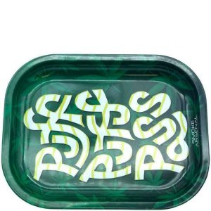 Puff Puff Pass Metal Rolling Tray – Small: 7″ x 5″ –