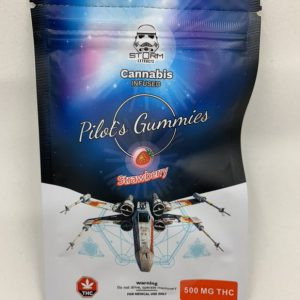 #Storm Extracts — 500 THC — Pilot's Gummies — Strawberry ( Flavour )