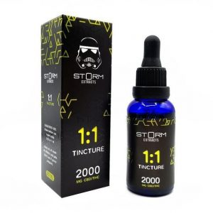 Tincture by Storm Extracts 1:1 – 1000mg THC : 1000mg CBD (2000mg total)